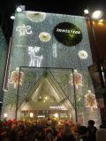 A cortina feericamente da borboleta do diodo emissor de luz ilumina a decoração do jardim