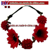 Weihnachten Gift Fashion Jewelry Headband mit Rose Flower (W1058)