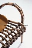 Софа мебели Rrattan дешевого патио синтетическая установленная на штанга 2+1+1 гостиницы или кофеего (YT658)