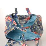 (99212) Toile imperméable à l'eau de grande capacité pliant le sac à main floral