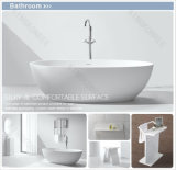 Baignoire moderne de salle de bains, baquets autonomes de Bath de résine en pierre ovale