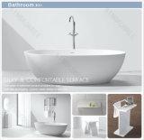Baño moderno Bañera, piedra oval Resina baño independiente tinas