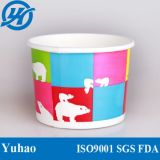 taza de papel del helado 8oz/taza de papel del yogur disponible