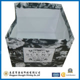 El papel de impresión personalizada rejilla bolso de compras bolso de la manija