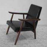 Sofá moderno Chair de Design Solid Wood com Leather Soft