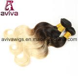 ボディ波の100%年のバージンの毛のOmbreの自然なバージンの毛の拡張