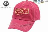 Gorra de béisbol rayada apenada del sombrero del golf del deporte del bordado de la impresión