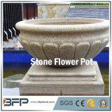 Honned natürlicher Steinblumen-Potenziometer/Vase für Garten-Dekoration/Landschaftsprojekt