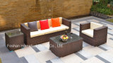 6 Pieces Wicker Sofa Set with Seat Cushions