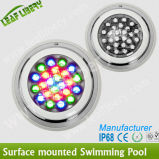 18X3w RGB LED Concrete Pool Lighting、Niche Pool LED Light