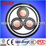 Le câble moyen de la tension 11kv, la SWA câblent, le câble unipolaire
