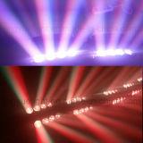 luz movente do feixe da aranha do diodo emissor de luz da cabeça do estágio de 8X12W RGBW