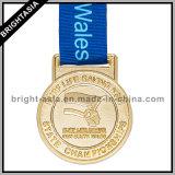 Medaglia di oro su ordinazione con Medal Ribbon per Sport (BYH-10731)