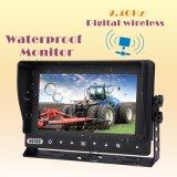 Cámaras digitales sin hilos impermeables para el tractor de granja, cosechadora, cultivador, arado, acoplado, carro, visión del granero