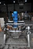 Chaleira de cozimento Jacketed do milho do atolamento do aquecimento de vapor do aço inoxidável