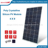 Kristallene Silikon PV-Polybaugruppe 100 Watt-Sonnenkollektor-Installationssatz