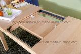 Hölzerner ausdehnbarer Birken-Furnier-Blattuvmatt-freier Lack-Speisetisch (AD-FA-B601-CT)