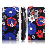 Caso pastoral original del tirón del estilo de la flor para el teléfono móvil (multicolor)