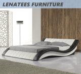 Кровать Европ конструкции вычуры A044 кожаный мягкая