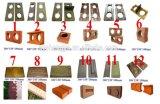 Shengya 상표 Qmr2-40 아프리카에 있는 손에 의하여 눌러지는 맞물리는 찰흙 구획 기계
