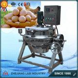 Inclinación del huevo comercial vestido que cocina la caldera