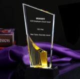 Premio di cristallo del trofeo del blocchetto specifico di sabbiatura con il marchio personalizzato