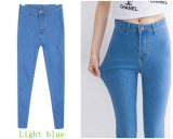 Высокие джинсыы женщин джинсовой ткани карандаша шкафута с сильным простиранием