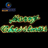 Large 2m LED Merry Christmas Sign Motif LED Warm White Rope Lights