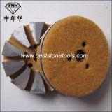 콘크리트를 위한 CD-15 벨크로 뒤 다이아몬드 세그먼트 금속 가는 패드