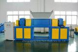 二重シャフトプラスチック木製パレットシュレッダー機械