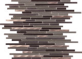 Mosaik-Fußboden-Fliese-Marmor-Stein-Mosaik-Streifen-Mosaik