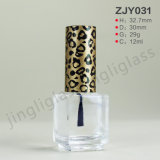 Glass transparente Nail Polish Bottle com The Cap