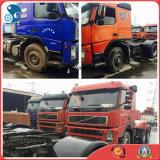camion utilisé par 30~40ton Initial-Rouge/bleu de 8*4-LHD/4_Passengers de Volvo FM12 380~450HP d'entraîneur de remorque