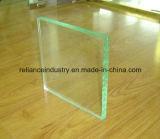 vidro desobstruído de 1-19mm, vidro do edifício do flutuador do espaço livre do indicador