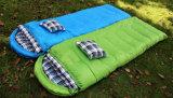 Outdoor Winter Thann Flannel Sleeping Bag Tela impermeável com travesseiro