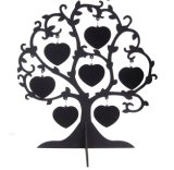 MDF por atacado Wood Photo Frame Double Side White Printing 7hearts Love Tree de Sublimation Blank Decoration