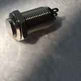 Alto mini interruptor de pulsador 10m m momentáneo redondo del metal