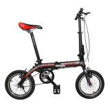 Bicicleta dobrável de liga leve de alumínio de 1 polegada de velocidade única de 14 polegadas