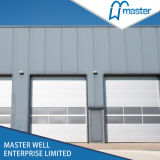 Ventana Inserted Galvanized Steel Stripe Industrial Door para Commercial Use