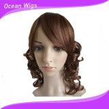 Lady&prime des femmes classiques de mode ; Perruques synthétiques anti-caloriques de cheveu de perruque de S de circuit de cheveu bouclé perruques bon marché de perruques de pleines