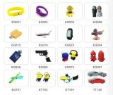 Flash Drive personalizada PVC pluma 3D Minion de dibujos animados USB Drives (ET07)