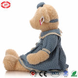 Urso enchido do luxuoso de Exqusite do brinquedo da peluche animal extravagante macio azul