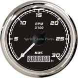 Sq 85mm Tachometer Rpm Gauge 3000rpm 12V 24V с Backlight для Boat Truck Car Tractor