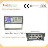 DCの低い耐性検査1microのオーム300kのオーム(AT5110)のための多重チャンネルの電気抵抗計