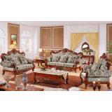 Wohnzimmer-Möbel stellten mit hölzernem ledernem Sofa ein (533)