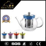 POT di vendita caldo del tè di vetro di Borosilicate del regalo di natale con acciaio inossidabile Infuser