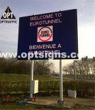 Segno chiaro informativo di sicurezza stradale della gara motociclistica su pista LED della strada principale dell'autostrada