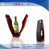 Rectángulo de almacenaje de cuero de encargo del vino de la venta al por mayor de la visualización de la novedad (5389R30)