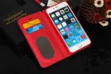 случай бумажника застежки -молнии заклепки косоугольника iPhone 5s с веревочкой руки