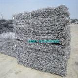Gabion galvanizzato, rete metallica di Gabion, casella rivestita di Gabion dello zinco pesante